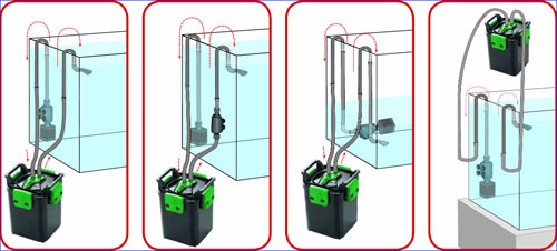 Aquael midikani 800 800 for Pompe e filtri per laghetti artificiali