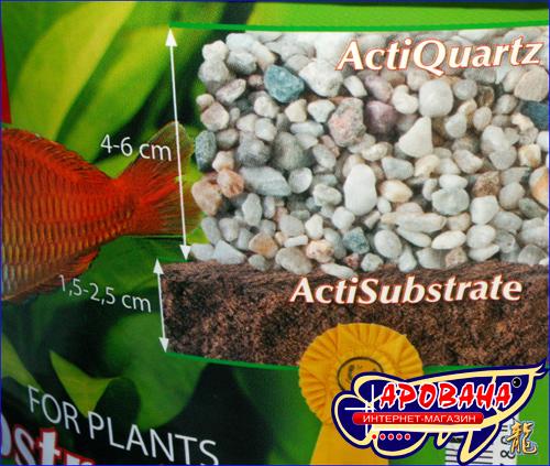 Aquael Acti Substrate 3 л, - грунт с минералами для растений.
