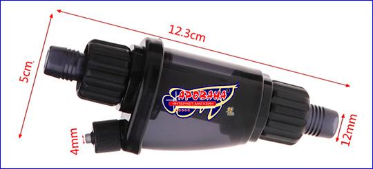 Размеры AQUAXER Atomizer СО2 12/16 мм.