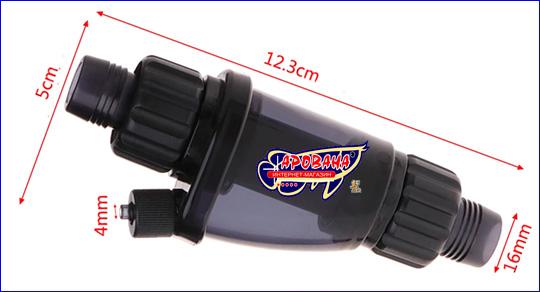 Размеры AQUAXER Atomizer 16/22 мм.