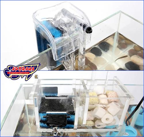 Фильтрующая губка, AQUAXER губка/поролон 2 в 1 60х30х2 см.