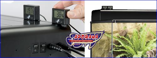 Exo Terra Precision Instrument электронный термометр оснащен дистанционным датчиком, гарантирующим точность измерения и длительный срок службы.