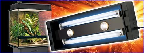 Светильник Exo-Terra Compact Top – компактные плафонные светильники для флуоресцентных ламп, разработанные для использования в стеклянных террариумах Exo Terra.