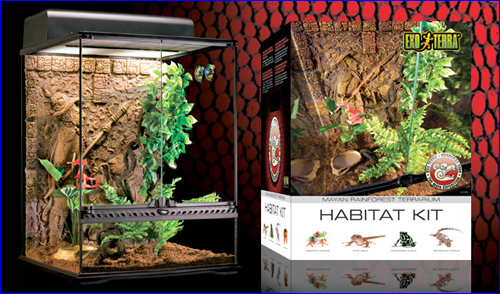 Exo Terra Mayan Rainforest Habitat Kit, - террариум для ящериц.