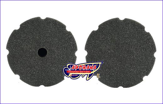 Фильтрующая губка, серая круглая 25х12х12 см.