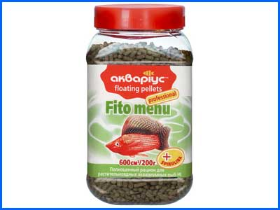 Корм Аквариус, Fito Menu - Floating Pellets 200 г.