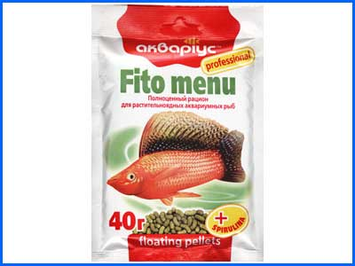 Корм Аквариус, Fito Menu - Floating Pellets  40 г.