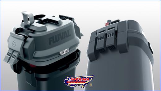Fluval 407 - защёлки головы фильтра, армированные и прочные
