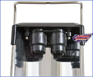 <center/> В светильнике Hagen GLO Т5 HO устойчивые к воде насадки, водонепроницаемые колпаки.