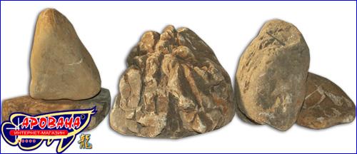 Keishou Stone Yellow, - камни для оформления аквариума.