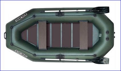 Колибри K-280СТ Стандарт, - трёхместная надувная лодка.