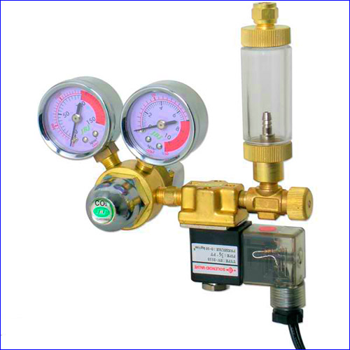 Примерная схема установки счётчика пузырьков CO2.