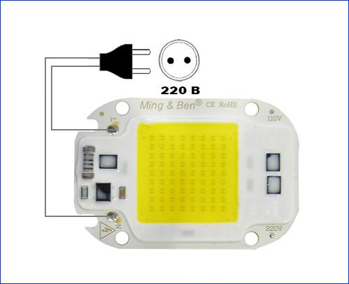 Схема подключения светодиодной сборки