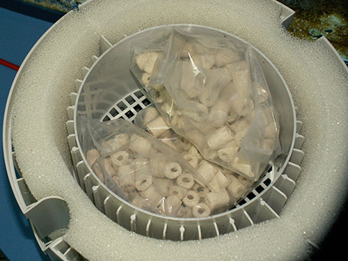 Биокерамические кольца для биофильтрации Fluval FX6.