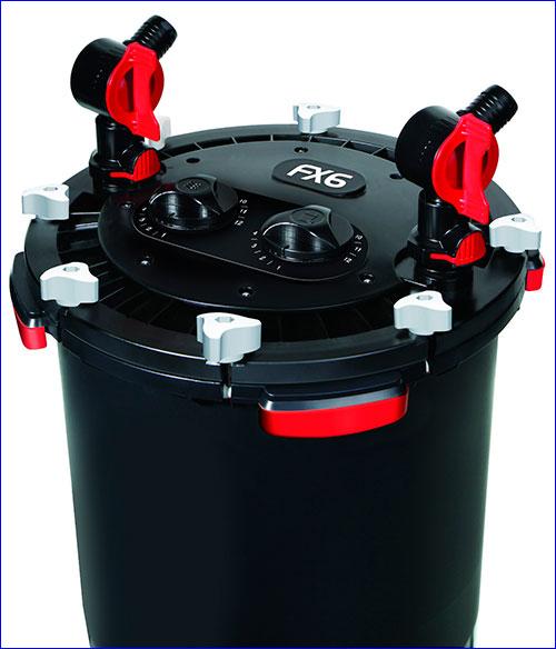 Внешний фильтр FX6 также оборудован прочной системой AquaStop.