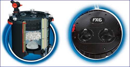 Fluval FX6 - внешний канистровый фильтр с наполнителями в комплекте.