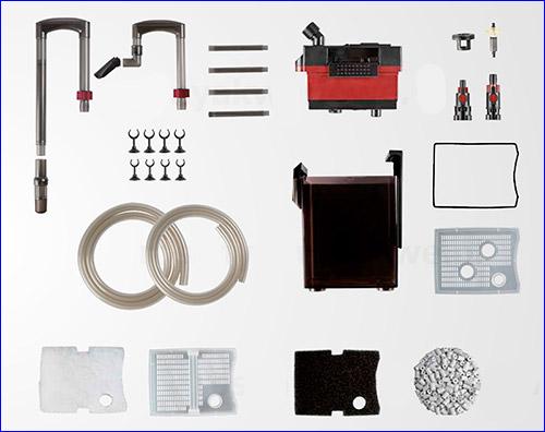 Комплектация внешнего фильтра Hydor Professional 350.