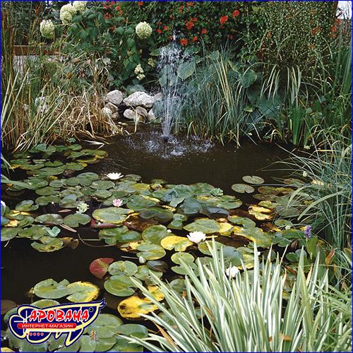 Средство для стабилизации кислотности в садовом пруду.