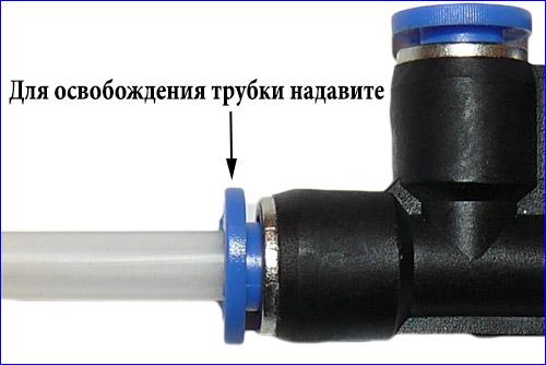 Способ установки и снятия трубки.