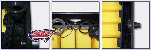 Установка штуцеров и уплотниленых прокладок SunSun CBF 350C.