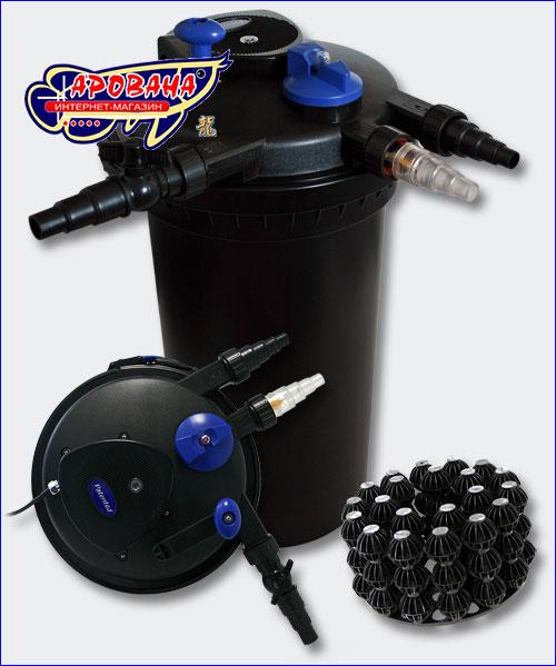 Корпус и биошары фильтра SunSun CPF-15000.