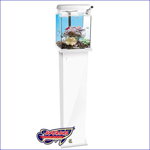 Белая тумба для аквариума Aquael Shrimp Set.