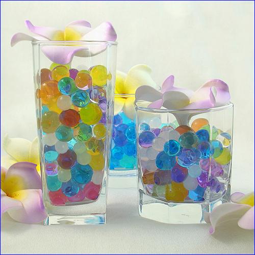 Комбинация разных цветов гидрогелевых шариков