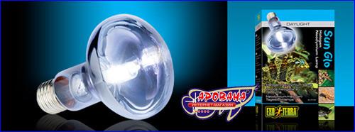 Exo-Terra Sun Glo Halogen 50 Вт. высокоэффективная энергосберегающая дневная лампа широкого спектра.