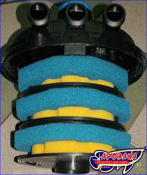 Специально подобранные фильтрационные материалы в фильтре SunSun CPF-250 UV обеспечивают качественную и надёжную фильтрацию вашего пруда.