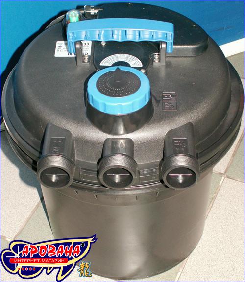 Корпус фильтра SunSun CPF-180 UV-C  изготовлен из высококачественного ударопрочного и устойчивого к перепадам температуры пластика
