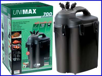 Внешний фильтр, канистровый Aquael UNIMAX 700, 2250 л/ч.